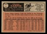 1966 O-Pee-Chee #71  Frank Carpin  Back Thumbnail