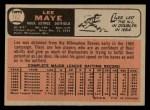 1966 O-Pee-Chee #162  Lee Maye  Back Thumbnail