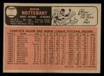 1966 O-Pee-Chee #21  Don Nottebart  Back Thumbnail
