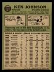 1967 O-Pee-Chee #101  Ken Johnson  Back Thumbnail