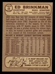 1968 O-Pee-Chee #49 ^WT^ Ed Brinkman  Back Thumbnail