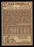 1968 O-Pee-Chee #191  Dan Frisella  Back Thumbnail