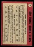 1969 O-Pee-Chee #99   -  Danny Morris / Graig Nettles Twins Rookies Back Thumbnail