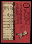 1969 O-Pee-Chee #37  Curt Motton  Back Thumbnail