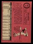1969 O-Pee-Chee #109  Jim Lonborg  Back Thumbnail