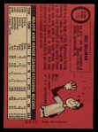 1969 O-Pee-Chee #141  Bill Dillman  Back Thumbnail