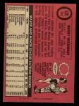 1969 O-Pee-Chee #142  Woody Woodward  Back Thumbnail