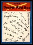 1973 O-Pee-Chee Blue Team Checklist #3   -     Red Sox Team Checklist Front Thumbnail