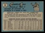1965 O-Pee-Chee #94  Charlie Lau  Back Thumbnail