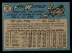 1965 O-Pee-Chee #283  Fred Whitfield  Back Thumbnail