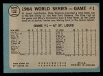1965 O-Pee-Chee #132   -  Mike Shannon 1964 World Series - Game #1 - Cards Take Opener Back Thumbnail