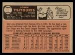 1966 O-Pee-Chee #12  John Tsitouris  Back Thumbnail
