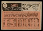 1966 O-Pee-Chee #78  Frank Linzy  Back Thumbnail