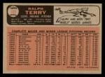 1966 O-Pee-Chee #109  Ralph Terry  Back Thumbnail