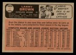 1966 O-Pee-Chee #16  Larry Brown  Back Thumbnail