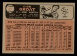1966 O-Pee-Chee #103 TR Dick Groat  Back Thumbnail