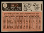 1966 O-Pee-Chee #94  Matty Alou  Back Thumbnail