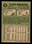 1967 O-Pee-Chee #120  Floyd Robinson  Back Thumbnail