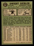 1967 O-Pee-Chee #164  Dwight Siebler  Back Thumbnail