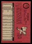1969 O-Pee-Chee #35  Joe Morgan  Back Thumbnail