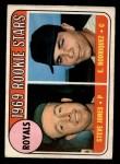 1969 O-Pee-Chee #49   -  Steve Jones / Ellie Rodriguez Royals Rookies Front Thumbnail