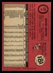 1969 O-Pee-Chee #96  Denver LeMaster  Back Thumbnail