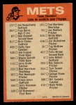 1973 O-Pee-Chee Blue Team Checklist #16   -      Mets Team Checklist Back Thumbnail