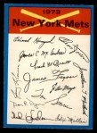 1973 O-Pee-Chee Blue Team Checklist #16   -      Mets Team Checklist Front Thumbnail