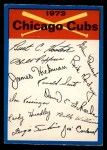1973 O-Pee-Chee Blue Team Checklist #5   Cubs Team Checklist Front Thumbnail