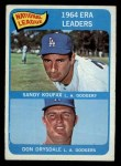 1965 O-Pee-Chee #8   -  Don Drysdale / Sandy Koufax NL ERA Leaders Front Thumbnail