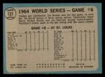 1965 O-Pee-Chee #137   -  Jim Bouton 1964 World Series - Game #6 - Bouton Wins Again Back Thumbnail