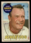 1969 O-Pee-Chee #124  Hank Bauer  Front Thumbnail