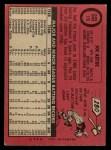 1969 O-Pee-Chee #176  Joe Azcue  Back Thumbnail
