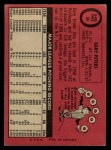 1969 O-Pee-Chee #34  Gary Peters  Back Thumbnail