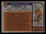 1976 Topps #147  Ed Bradley  Back Thumbnail