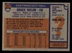 1976 Topps #327  Bruce Taylor  Back Thumbnail