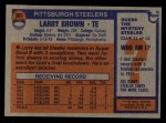 1976 Topps #381  Larry Brown  Back Thumbnail
