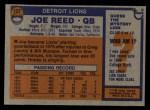1976 Topps #137  Joe Reed  Back Thumbnail