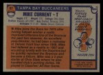 1976 Topps #97  Mike Current  Back Thumbnail