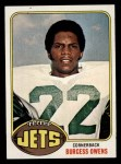 1976 Topps #378  Burgess Owens  Front Thumbnail