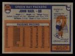 1976 Topps #222  John Hadl  Back Thumbnail
