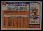 1976 Topps #311  Essex Johnson  Back Thumbnail