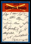 1973 O-Pee-Chee Blue Team Checklist #4   Angels Team Checklist Front Thumbnail