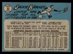 1965 O-Pee-Chee #33  Jackie Brandt  Back Thumbnail