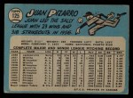 1965 O-Pee-Chee #125  Juan Pizarro  Back Thumbnail