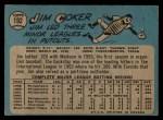 1965 O-Pee-Chee #192  Jim Coker  Back Thumbnail
