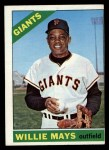 1966 O-Pee-Chee #1  Willie Mays  Front Thumbnail