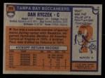 1976 Topps #366  Dan Ryczek   Back Thumbnail