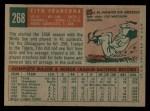 1959 Topps #268  Tito Francona  Back Thumbnail