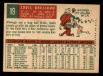 1959 Topps #19  Eddie Bressoud  Back Thumbnail